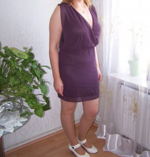 Süßes leichtes Kleid von Vila, Gr. M / 38, Farbe: Pflaume