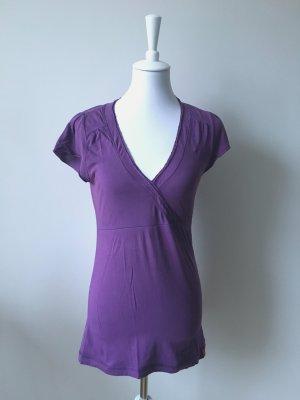 Esprit T-shirt col en V violet