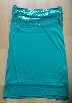 Only Top lungo blu cadetto-verde Viscosa