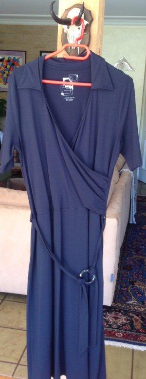Lucia Jerseyjurk donkerblauw Gemengd weefsel