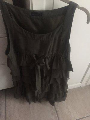 Süßes Mini Kleid in Khaki