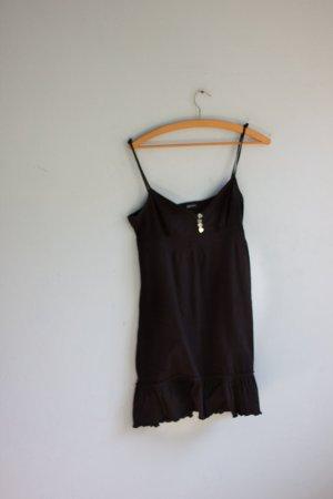 Süßes Mini Kleid Longtop Madonna schwarz Herzchen