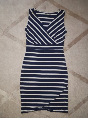 b.p.c. Bonprix Collection Mini Dress white-dark blue