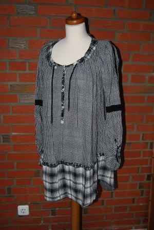 süßes Minikleid / Tunika in schwarz weiß kariert mit tollen Details von High
