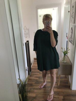 Hemdblousejurk donkergroen-bos Groen