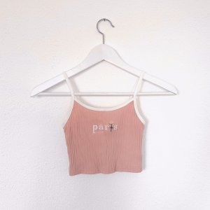 Cropped Top white-pink