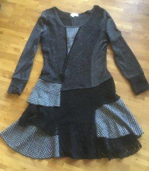 Suesses Patchwork Kleid, Tweed u. spitze