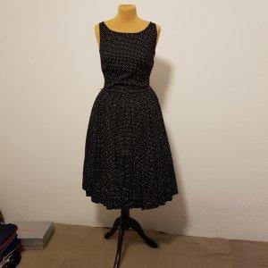 Promod Petticoat Dress black-white cotton