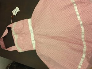 Abito a sottoveste bianco-rosa Tessuto misto