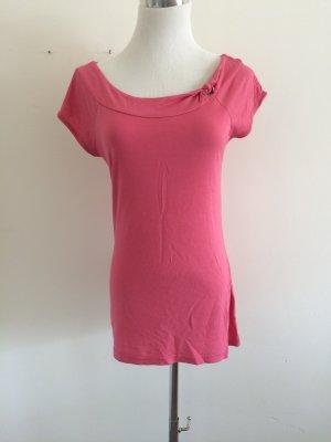 Süßes pinkes T-Shirt mit Knoten-Applikation