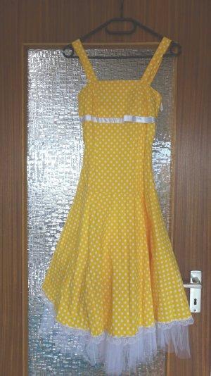 Petticoat Dress yellow cotton