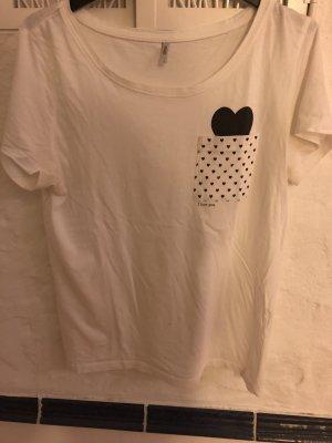 Only Camicia fantasia bianco-nero Cotone