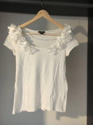 süßes, raffiniertes weißes Blümchen T- Shirt