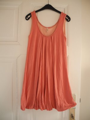 vestido de globo rosa empolvado-rosa