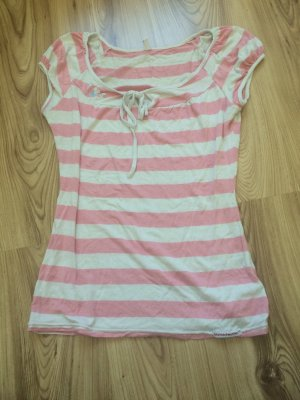 Blutsgeschwister Gestreept shirt wit-roze