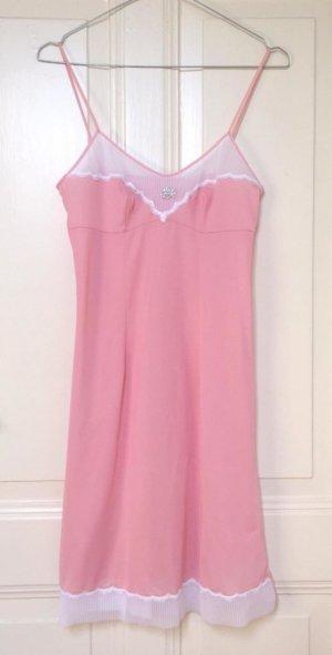 Süßes roséfarbenes Vintage Negligée Nachthemd Nachtkleid
