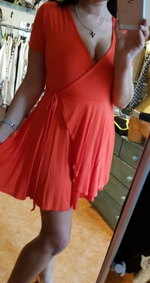 Boohoo Hooded Dress red