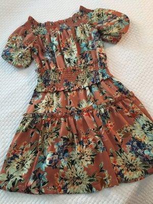 Ivivi Vestido strapless multicolor tejido mezclado