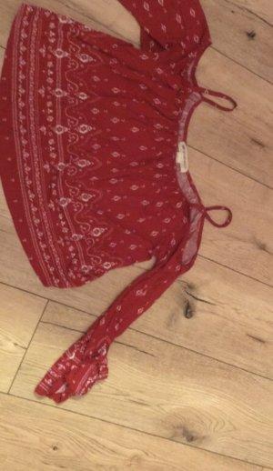 H&M Camicia monospalla bianco-rosso