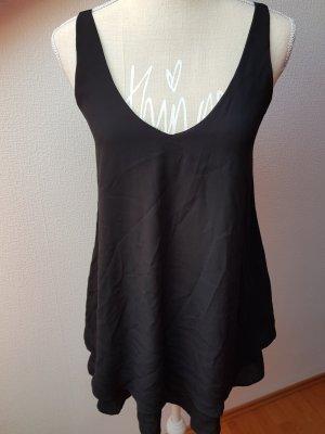 Süßes schwarzes Kleid mit Kobaltblauen Trägern; Gr. S