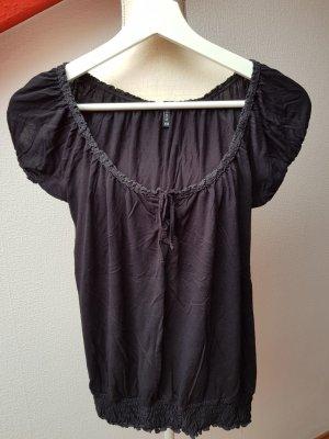 Süßes schwarzes T-Shirt; Gr. XS