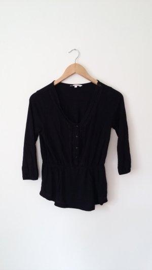Süßes schwarzes V-Auschnitt Shirt von C&A Clockhouse