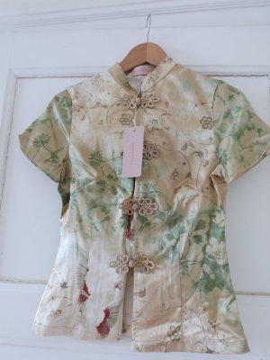 Amor & Psyche Blusa tipo kimono multicolor Seda