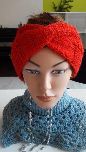 Süßes selbstgestricktes Stirnband- rot - NEU