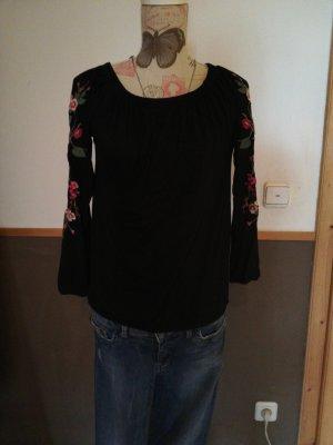 Amisu Camisa de un solo hombro multicolor
