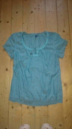 süsses Shirt Bluse von Cecil Gr. M grün mit Stickerei Top