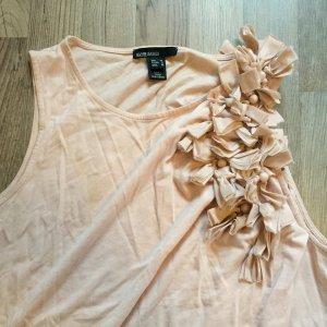 Süßes Shirt mit ausgesetzten Blumen in rosa altrosa von Mango