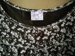Batik shirt wit-donkerbruin