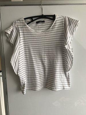 Mango Camisa blanco-negro