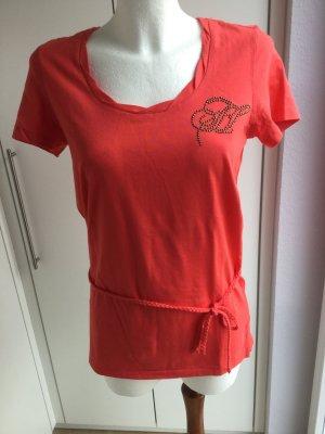 Süßes Shirt mit geflochtenen Gürtel Größe S