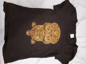Süßes Shirt mit goldenem Totenkopf