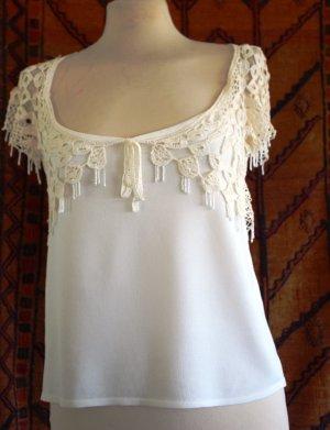 Camisa tejida blanco puro