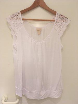 """Süßes Shirt mit Spitze aus der """"Conscious*Collection"""" von H&M in Größe 38 (M)"""