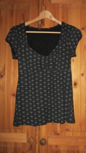 Süßes Shirt mit Spitzendruck von Orsay – schwarz, Gr. L