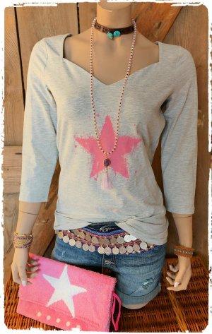 süsses Shirt mit Stern in pink