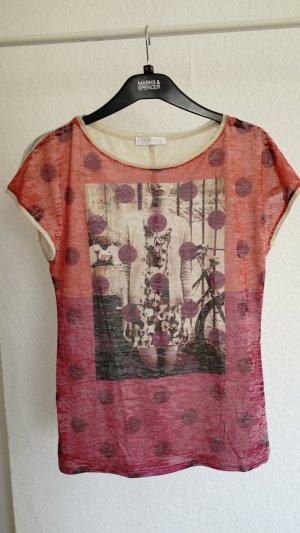 Süßes Shirt, rot mit Aufdruck, S