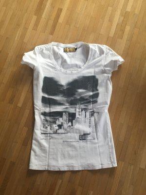 Calvin Klein Camiseta estampada blanco-negro