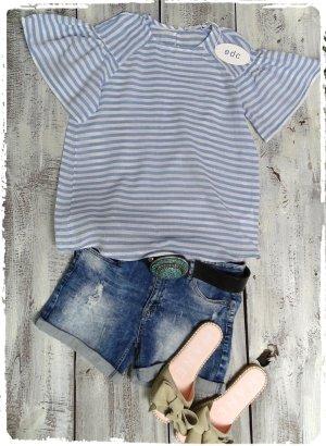 Edc Esprit Camicia a tunica bianco-azzurro