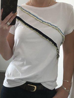 Süßes Shirt von Esprit edc mit Rüschen weiß
