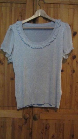 Süßes Shirt von Orsay mit Rüschen, grau – Gr. 40