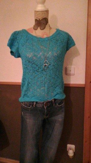 Süsses Shirt Zara Knit türkis Gr. S