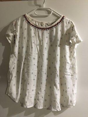 Süßes Sommer-Shirt weiß mit Muster