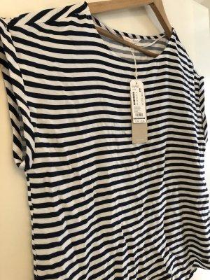 Tom Tailor Denim Camiseta blanco-azul oscuro