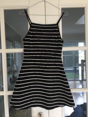 Topshop Robe courte noir-blanc