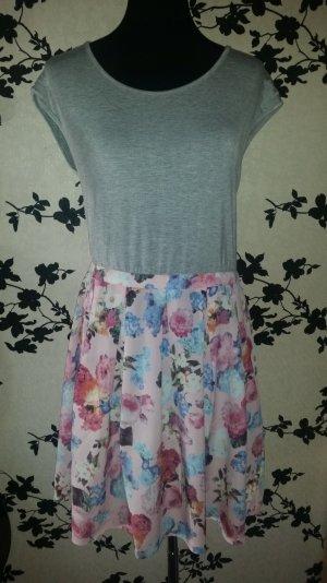 Süßes Sommerkleid - bunt - Blumenmuster - Gr. 42 - w.Neu