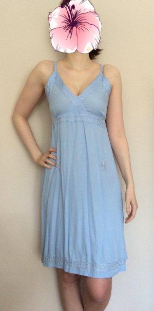Süßes Sommerkleid Kleid blau hellblau silber Empirestil